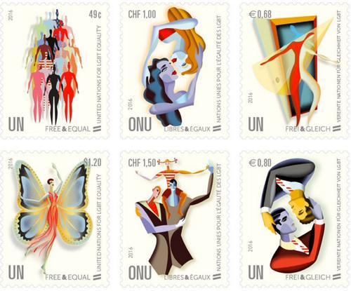 VN publiceren LHBT-postzegels